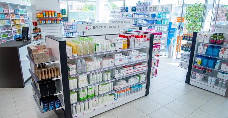 scaffali metallici per farmacie