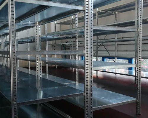 scaffalature metalliche industriali zincate