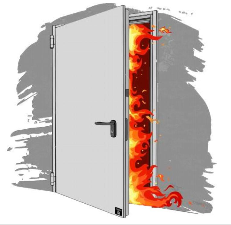 Porta Pedonale Tagliafuoco STEEL Open Fire